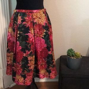 Talbots Silk Skirt